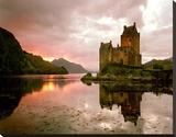 Eilean Donan, Scotland Stretched Canvas Print by Alan Klug