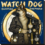 Watch Dog Stretched Canvas Print by Janet Kruskamp