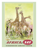 Africa- by SAS Scandinavian Airlines System Giclée-tryk af Otto Nielsen