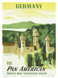 Germany - Fly Pan American Airways (PAA) Posters by Edward McKnight Kauffer