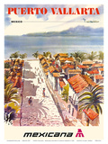 Puerto Vallarta, Mexico - Mexicana Airlines Kunstdrucke
