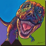 TRex Stretched Canvas Print by Ron Burns