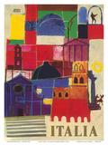 Italia (Italy) - Milano Print by Alerbo Moroni