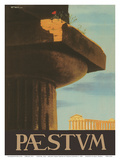 Paestum, Italy - Ancient Greek Temples Print by Virgilio Retrosi