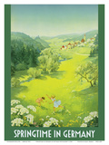 Springtime in Germany Prints by Dettmar Nettelhorst