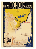 Rio De Janeiro, Brazil Posters by  Clement