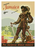 Discover Jamaica by Clipper - Pan American World Airways Print by John Pike