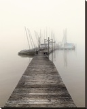 Harbor Fog Stretched Canvas Print by Nicholas Bell