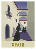 Spain - Spanish Women in Black Mantillas Prints by Guy Georget