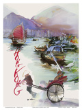 Hong Kong - China - SAS Scandinavian Airlines System Posters by André Crab