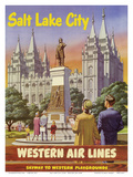 Salt Lake City, Utah - Western Air Lines Posters