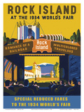 Rock Island at the 1934 World's Fair Poster by Norman Andersen