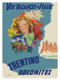 Trentino, Italy - Dolomites Mountain Range Posters by Filippo Romoli