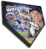 David Wright Home Plate Plaque Wall Sign