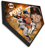 Buster Posey Home Plate Plaque Wall Sign