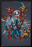 Official Handbook: Avengers 2005 Cover: Captain America, Hulkling and Cage Posters by Tom Grummett