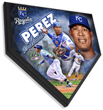 Salvador Perez Home Plate Plaque Wall Sign