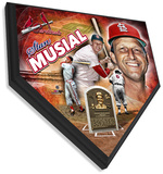 Stan Musial Home Plate Plaque Wall Sign