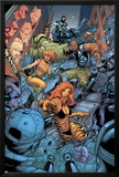 Avengers: The Initiative No.26 Group: Tigra, Ultragirl, Gauntlet and Justice Jumping Print by Rafa Sandoval