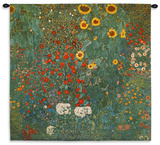 Farm Garden with Sunflowers, c.1912 Wall Tapestry Wall Tapestry by Gustav Klimt