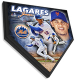 Juan Lagares Home Plate Plaque Wall Sign