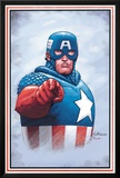 The New Invaders No.0 Cover: Captain America Prints by Steve Epting