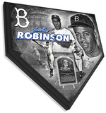Jackie Robinson Home Plate Plaque Wall Sign