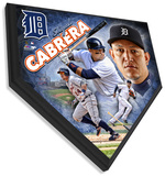 Miguel Cabrera Home Plate Plaque Wall Sign