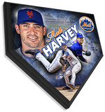 Matt Harvey Home Plate Plaque Wall Sign