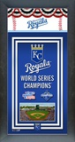 Kansas City Royals 2015 World Series Champions Framed Championship Banner Framed Memorabilia