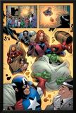 Marvel Adventures The Avengers No.14 Group: Captain America Poster by Kirk Leonard