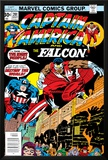 Captain America And The Falcon No.201 Cover: Captain America and Falcon Crouching Photo by Jack Kirby