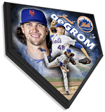 Jacob deGrom Home Plate Plaque Wall Sign
