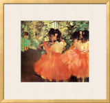 Ballerina in Red Print by Edgar Degas