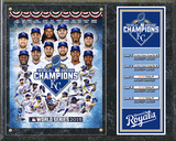 Kansas City Royals 2015 World Series Champions Composite Plaque Wall Sign