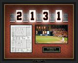 Cal Ripken, Jr. Replica Scorecard from 2,131st Game Framed Memorabilia