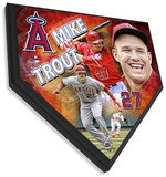 Mike Trout Home Plate Plaque Wall Sign