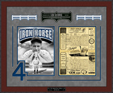 Lou Gehrig Final Game Replica Scorecard Framed Memorabilia
