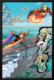 Iron Man And Power Pack No.2 Group: Iron Man, Lightspeed, Mass Master, Zero-G and Energizer Prints by Marcelo Dichiara