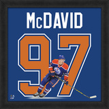 Conner McDavid, Oilers - Photographic Representation of the Player's Jersey Framed Memorabilia