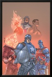 The New Invaders No.1 Cover: Captain America, Union Jack, Blazing Skull and Invaders Photo by Scott Kolins
