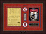 Ted Williams Replica Scorecard from Final Game Framed Memorabilia