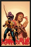 House Of M: Avengers No.2 Cover: Cage, Luke, Hawkeye and Shang-Chi Swinging Photo by Mike Perkins