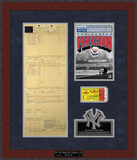 Don Larsen Perfect Game Replica Scorecard & Ticketstub Framed Memorabilia