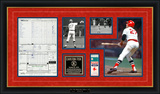 Carlton Fisk 1975 World Series Game 6 Replica Scorecard & Ticketstub Framed Memorabilia