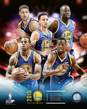 Golden State Warriors 2015-16 Team Composite Photo