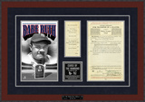 Babe Ruth Sold to Yankees Replica Contract Framed Memorabilia