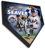 Tom Seaver Home Plate Plaque Wall Sign