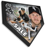 Chris Sale Home Plate Plaque Wall Sign