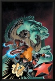 Hulk: Winter Guard No.1 Cover: Darkstar, Crimson Dynamo, Ursa Major, Red Guardian and Hulk Posters by Steve Ellis